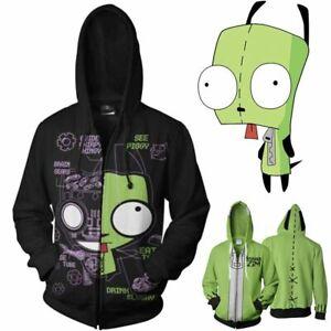 Invader Zim Gir Doom Costume Zipper Sweater Hoodie Sweatshirt Jacket Coat Unisex Ebay