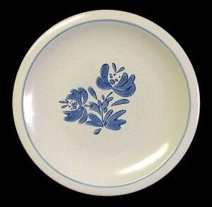 Dinner Plate PFALTZGRAFF YORKTOWNE White with Blue Flowers 10-1/4 ...