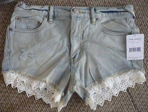 jeans Nwt 88 Free People di al Cutoff Lacey Pantaloncini dettaglio F5qxAgn