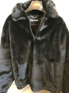 0860948b5 Details about Supreme 17ss Faux Fur Half Zip Pullover Bomber Jacket Size M  Rare From JAPAN