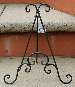Slate-Grey-Iron-Book-Plate-Stand-BRAND-NEW