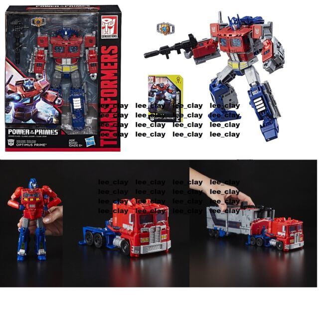 Transformers ~ POWER OF THE PRIMES LEADER CLASS OPTIMUS PRIME ACTON FIGURE