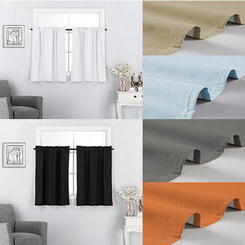 3 Piece Valance Tier Kitchen Curtains