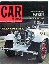Car Classics Magazine July 1968 Mercedes SSK EX No ML 092116jhe