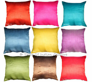 Image Is Loading Ethnic 24 034 Square Pillow Cushion Cover Dupioni