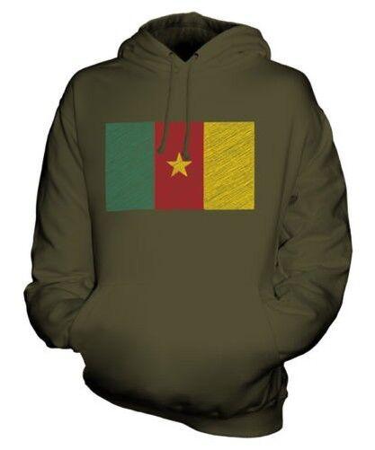 Cameroon Scribble Flag Unisex Kapuzenpulli Top Geschenk Cameroun Kameruner