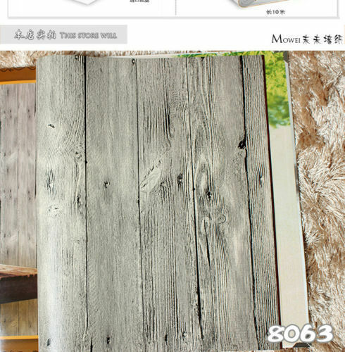 no adhesive #N62 Wood Sheet Wall Tile Grain Decorative Vinyl Wall Paper Film