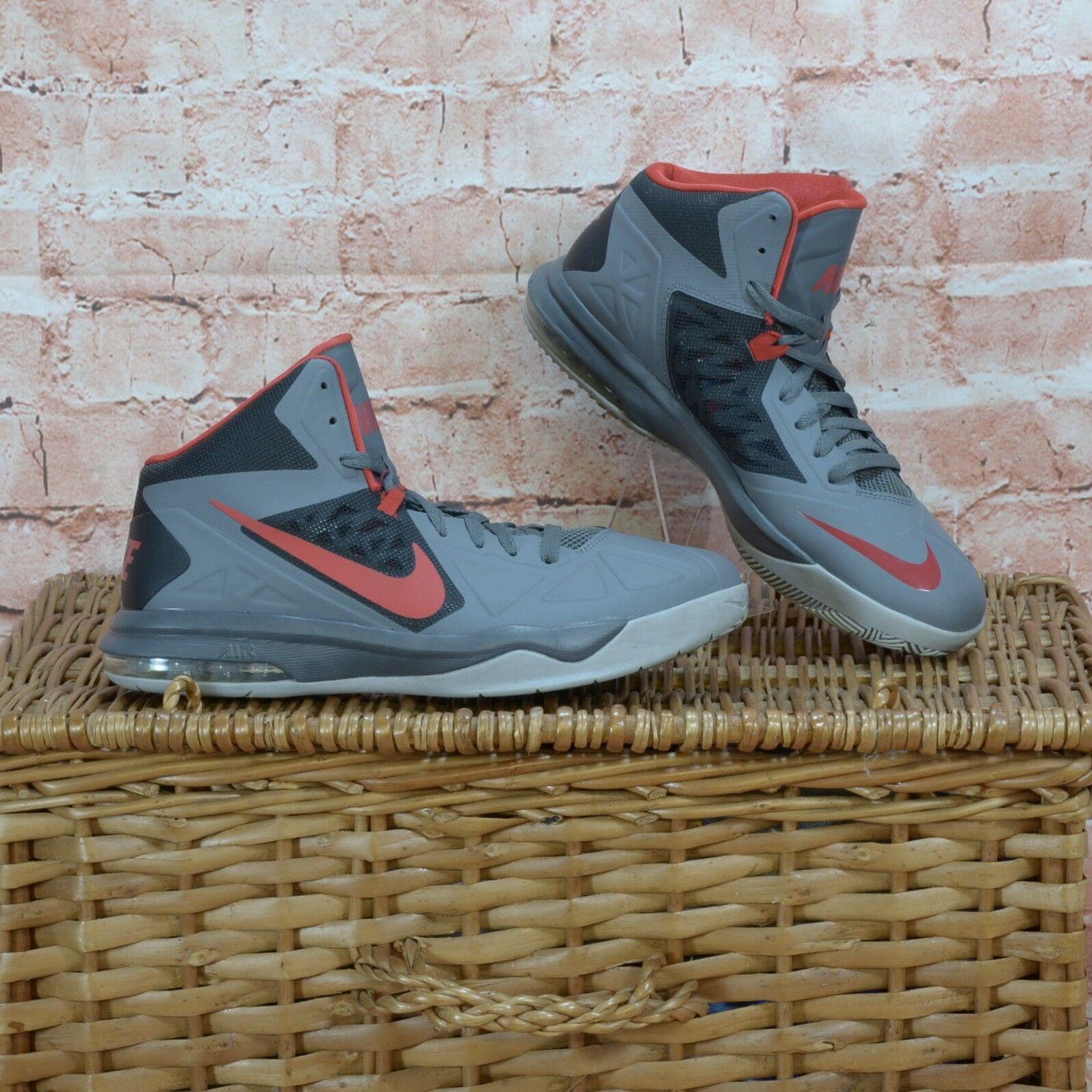Nike Air Max Body U Mens Basketball shoes Grey Red UK 10 - EUR 45  599350-006