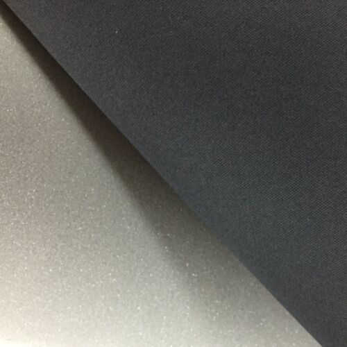 BLACK CAR HEADLINER FABRIC 2MM FOAM BACKED Automobile Trimmings Upholstery 140CM