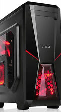 Circle CC 819 with Transparent Side Panel & 2 LED Fans Gaming Cabinet (Black)