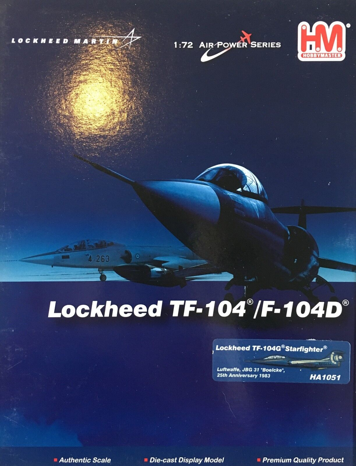 Hobby Master 1 72 HA1051 TF-104G Starfighter Luftwaffe la JBG 31 'Boelcke' 25th Ann