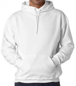 bbe99422 Image is loading New-Plain-White-Sweatshirt-Men-Women-Pullover-Hoodie-