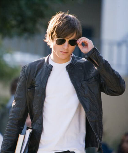Efron op jas Zac Celebrity leren maat 17 Again gemaakte Replica tCrshdQ