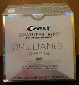 Crest 3d Brilliance Gentle Whitestrips Teeth Whitening Strips