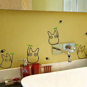 Totoro Wall Sticker- Japanese Cartoon Animation Wall ...