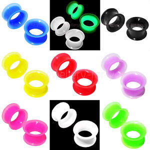 FLESH-TUNNEL-FLEXIBLE-SILICONE-EAR-PLUG-SOFT-STRETCHER-EXPANDER-DOUBLE-FLARED
