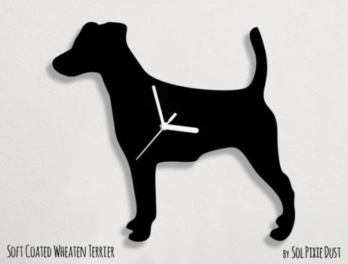 Smooth Fox Terrier Dog Silhouette 1 Wall Clock