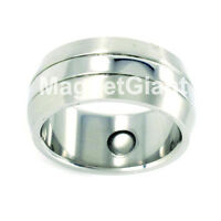 Silver Stainless Steel Magnetic Ring (size 8, 9, 10, 11, 12, 13, 14, 15 )