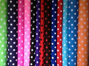Spotted-polka-dot-polycotton-fabric-sold-by-the-metre-by-Fyvie-star-Fabrics