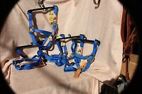 5 Pack - Bmb Horse Size Breakaway Safety Halter With Brass Hardware Blue