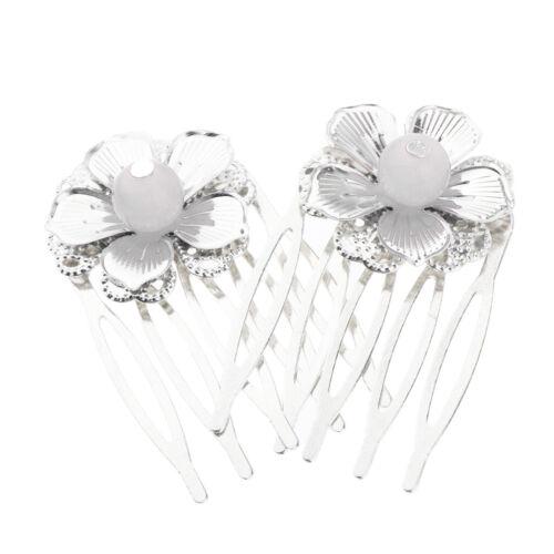 Perlen Blumen Haarkämme Steckkamm Haarspangen Haarschmuck für 2 Stk