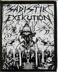 Sadistik Exekution Helmet Patch Death Metal Dave Slave Rok Rev. Kris Hades