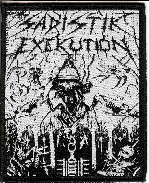 Sadistik Exekution Helmet Patch Death Metal Dave Slave Rok Rev. Kris Hades