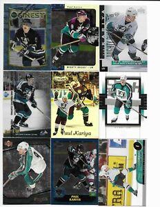 Anaheim-Ducks-470-Card-Sorted-Lot-KARIYA-GETZLAF-SELANNE-GIGUERE-No-Dupes