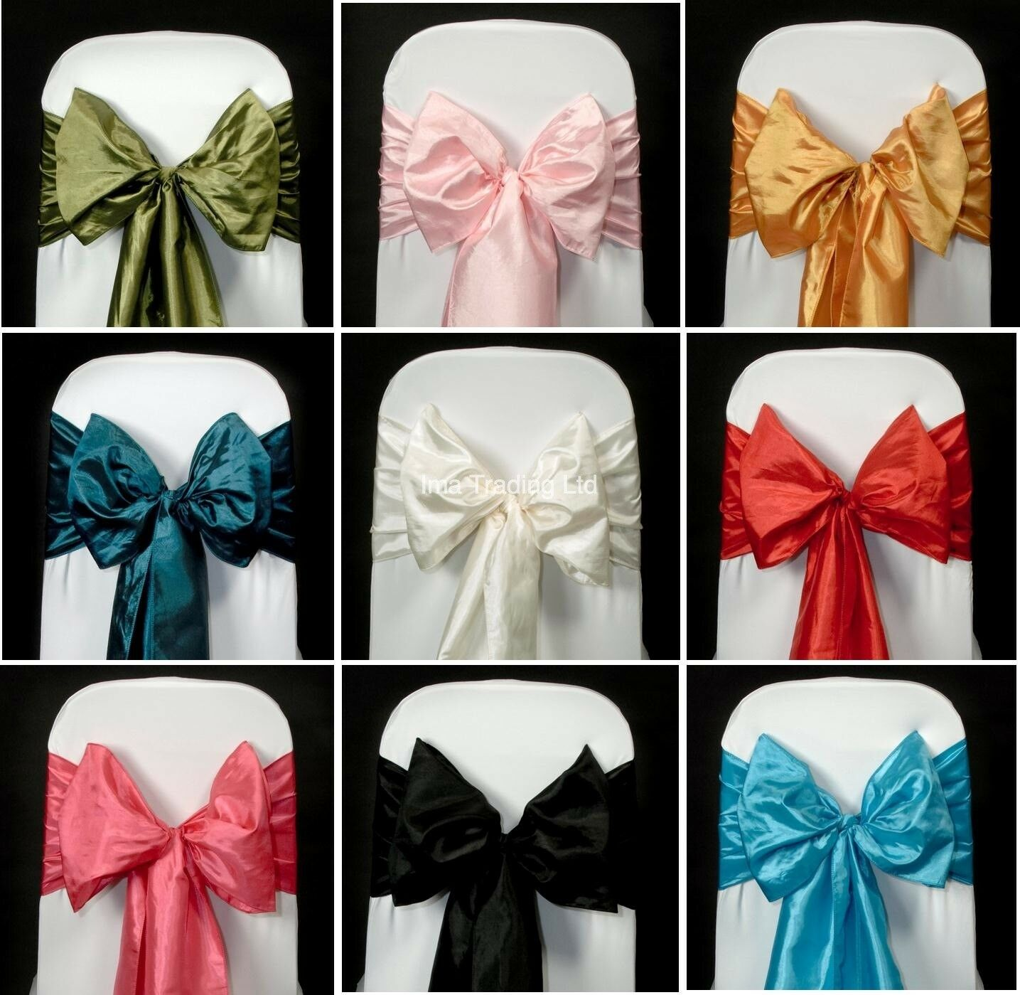 50 en taffetas sashes, beaucoup de couleurs disponibles