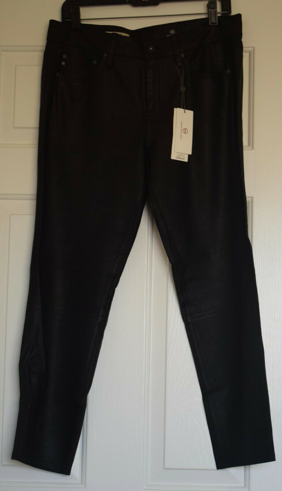 AGAdriano Goldschmied Leather Pants, Größe 28