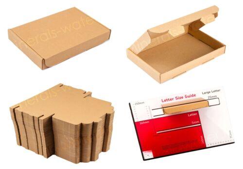 Brown C6 A6 casella Dimensioni lettera grande cartone resistente; spedizione POSTALI POSTALE PIP