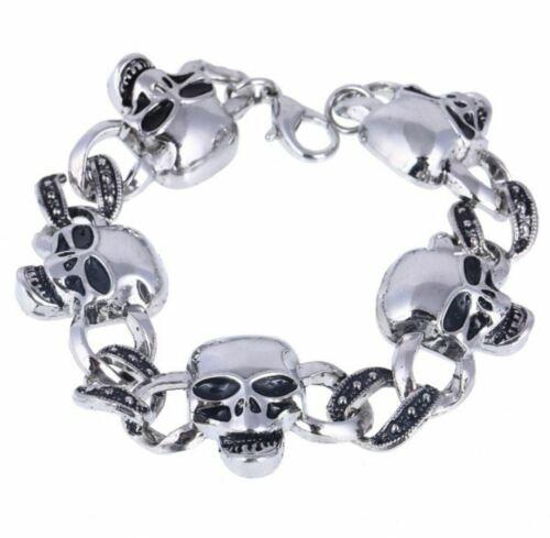Details about  /Stainless Steel Skull Bracelet Halloween