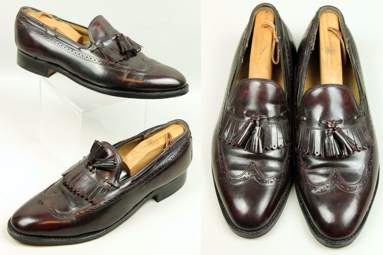 Men's JOHNSTON MURPHY Aristocraft USA Burgundy Leather Loafers Dress shoes 10 D