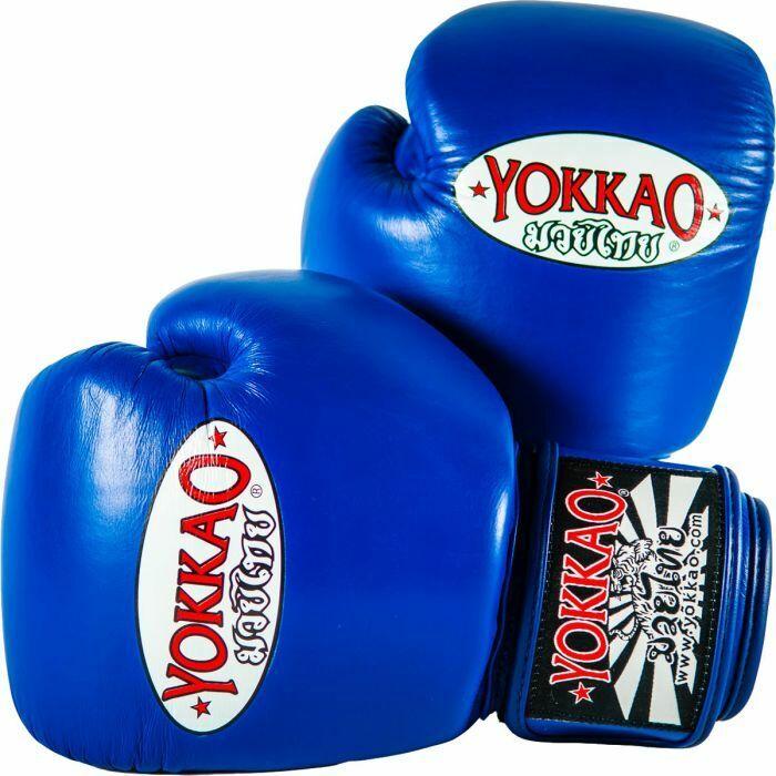 Yokkao Matrix Boxhandschuhe Blau Muay Thai Boxen Sparring Kickboxen K1