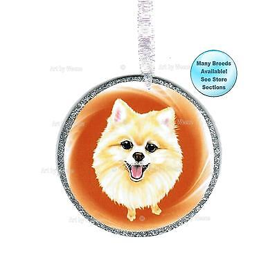 Pomeranian Red Dog Candy Cane Christmas Tree ORNAMENT