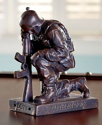 Called to Pray Praying Police Officer Tabletop Sculpture Inspirational Gift