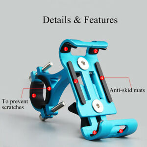 Universal-Full-Aluminum-Bicycle-Bike-Handlebar-Phone-Holder-MTB-Motorcycle-Mount