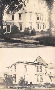 RPPC-SEARSPORT-ME-Havener-Place-Before-amp-After-Cyclone-Vintage-Postcard-1921