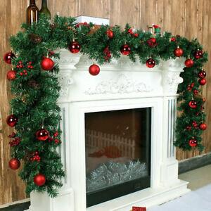 Christmas Decoration Xmas Garland Fireplace Pine Mantel Tree