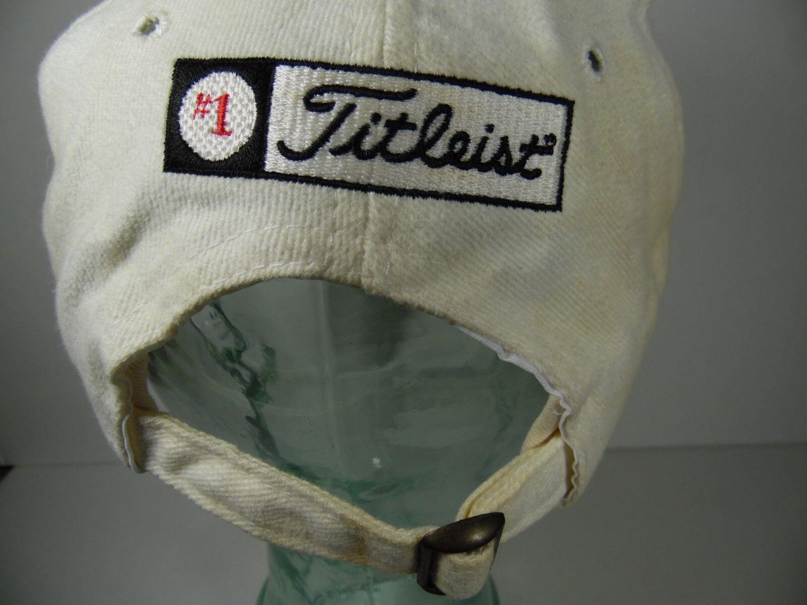 TITLEIST GOLF NEW ERA ADJUSTABLE STRAP CREAM HAT CAP LIGHT BROWN CREAM STRAP OFF WHITE COLOR 711bcb