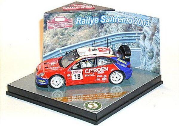 CITROËN Xsara WRC No.18 avec Fahrerfiguren S.Loeb-D.elena Rallye de San Remo