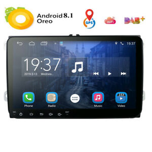 9-034-Autoradio-Doppel-2-DIN-WIFI-GPS-AUX-USB-DAB-FM-For-VW-Car-GOLF-TOURAN-TIGUAN