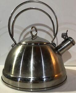 Vintage-BETTY-CROCKER-WHISTLING-TEA-KETTLE-Pot-18-10-Stainless-Steel-RETRO