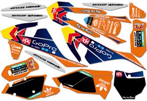 KTM SX SXF EXC 125 250 300 350 450 2017 2018-ama MX DECORO DECALS KIT Motocross