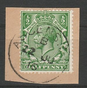 Stamps Ascension 1912 Kgv Great Britain 1/2d With Ascension Postmark Comfortable Feel