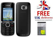 New condition C2-01 Black Nokia Brand 3G Unlocked Bluetooth Camera Easy Mobile
