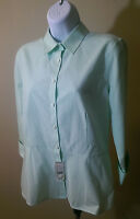 Womens Brooks Brothers 346 Long Sleeve Shirt - Green - Size 8 - - Retail $89