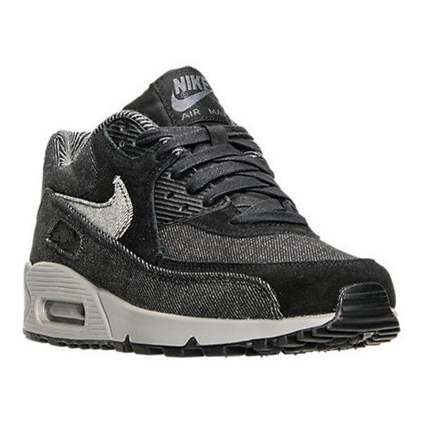 AUTHENTIC Nike Air Max 90 SE Denim Black Dark Grey Cobblestone Grey Women sz