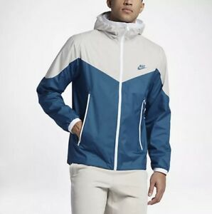 MEN'S NIKE SPORTSWEAR WINDRUNNER JACKET BLUE WHITE 917809