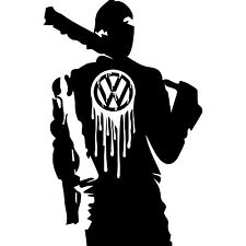 VW Volkswagen Walking Dead Negan Vinyl Decal Sticker Car Van Transporter Camper